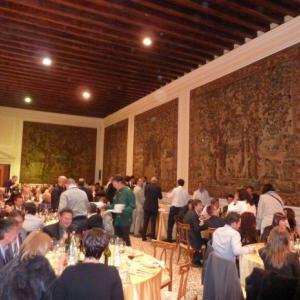 V sále Cavallerizza: společná večeře